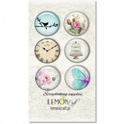 Selfadhesive buttons/badge, Dreamy Mornings collection