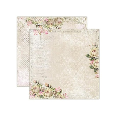 Double sided scrapbooking paper, House of Roses - Music of the soul 12x12
