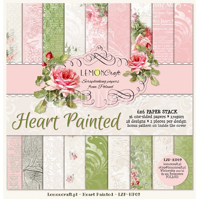 Pad of scrapbooking papers - Heart Painted 6x6