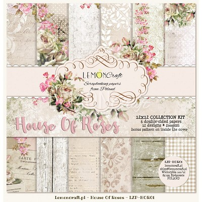 Set of scrapbooking papers - House Of roses new collection - LZP-HOR01