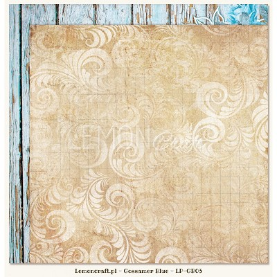 Double sided scrapbooking paper - Gossamer Blue 03  -  new collection