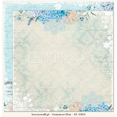 Double sided scrapbooking paper - Gossamer Blue 04  -  new collection
