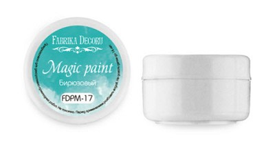 Fabrika Decoru - Dry paint Magic paint color Turquoise 15ml
