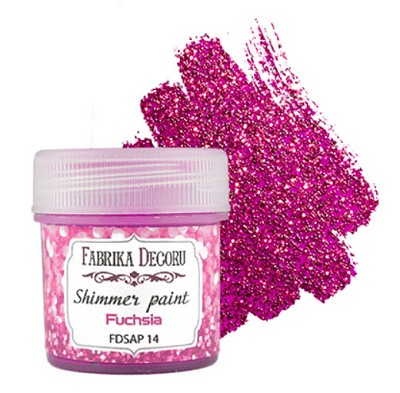 Fabrika Decoru - Shimmer paint. Color Fuchsia