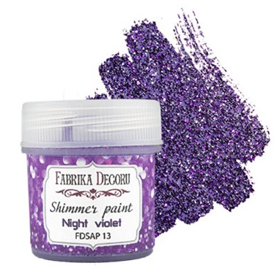 Fabrika Decoru - Shimmer paint. Color Night violet
