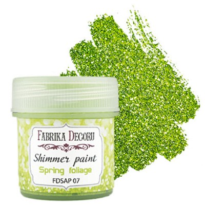 Fabrika Decoru - Shimmer paint. Color Spring foliage