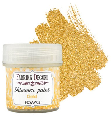Fabrika Decoru - Shimmer paint. Color Gold