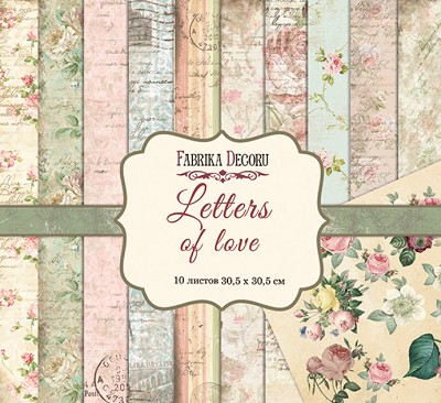 Fabrika Decoru - Letters of Love Paperpad  12 x 12 inch