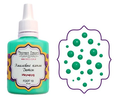 Fabrika Decoru - Liquid enamel dots - color  Emerald