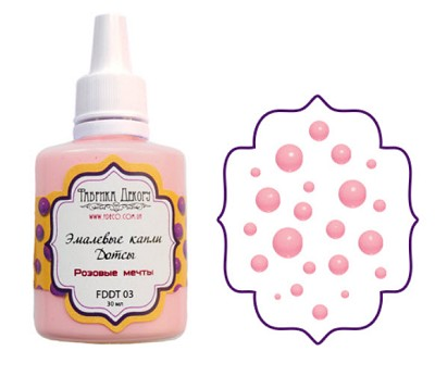 Fabrika Decoru - Liquid enamel dots - color Pink dreams