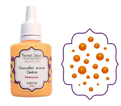 Fabrika Decoru - Liquid enamel dots - color Orange