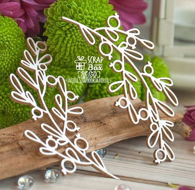 Chipboard sprigs with berries 2 pcs. Hf-150