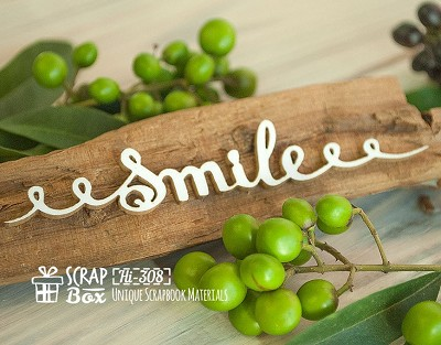 Chipboard inscription Smile Hi-308