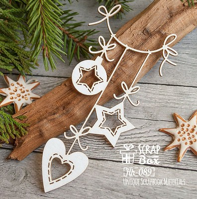 Chipboard Christmas suspension Hh-089
