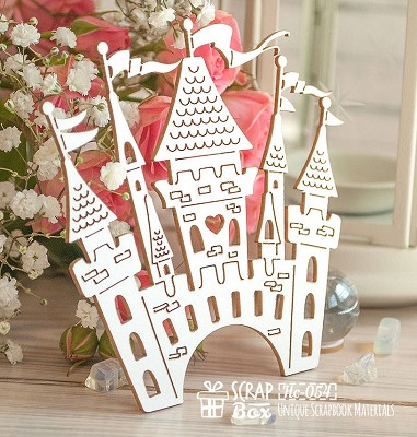 Chipboard Castle large Hc-054