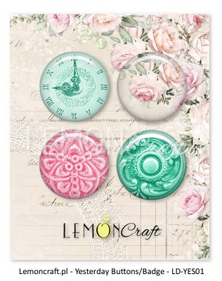 Lemoncraft Yesterday Buttons / Badges LD-YES01