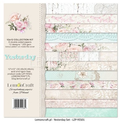 Lemoncraft - Set of scrapbooking papers - Yesterday - LZP-YES01 12 x 12
