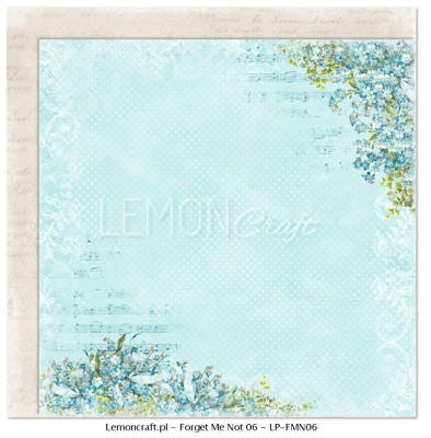 Lemoncraft Double sided scrapbooking paper - Forget Me Not 06