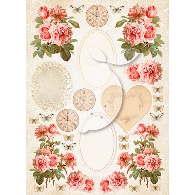 Lemoncraft Sense and sensibility - One-sided scrapbooking paper - Vintage Time 038